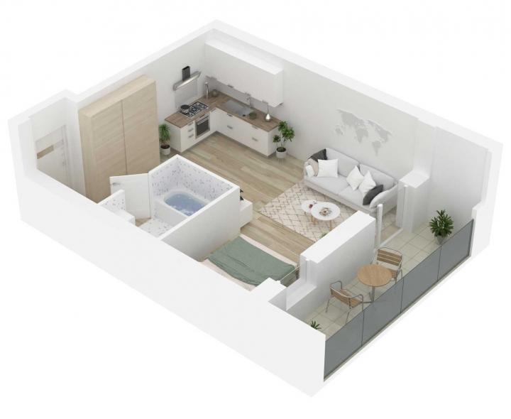 Naujos statybos 1 kambario butai Vilniuje, Šnipiškėse, Kernavės gatvėje.  Nauji 1 kambario butai Vilniuje, Šnipiškėse šalia Žalgirio, Geležinio Vilko ir Kalvarijų gatvių. Butas: 172 | www.k17.lt