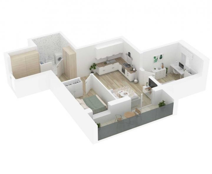 K17 – naujos statybos 3 kambarių butas Vilniuje, Šnipiškėse. A energetinės klasės 3 kambarių butai Vilniuje. 3 kambarių butai parduodami su daline apdaila - Vilnius, Šnipiškės. Butas: 35 | www.k17.lt