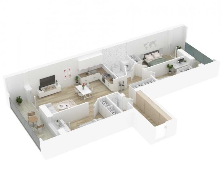 4 kambarių butai Vilniuje, Šnipiškėse, Kernavės gatvėje. Nauji 4 kambarių butai Vilniuje, Šnipiškėse šalia Žalgirio, Geležinio Vilko ir Kalvarijų gatvių. Butas: 165 | www.k17.lt