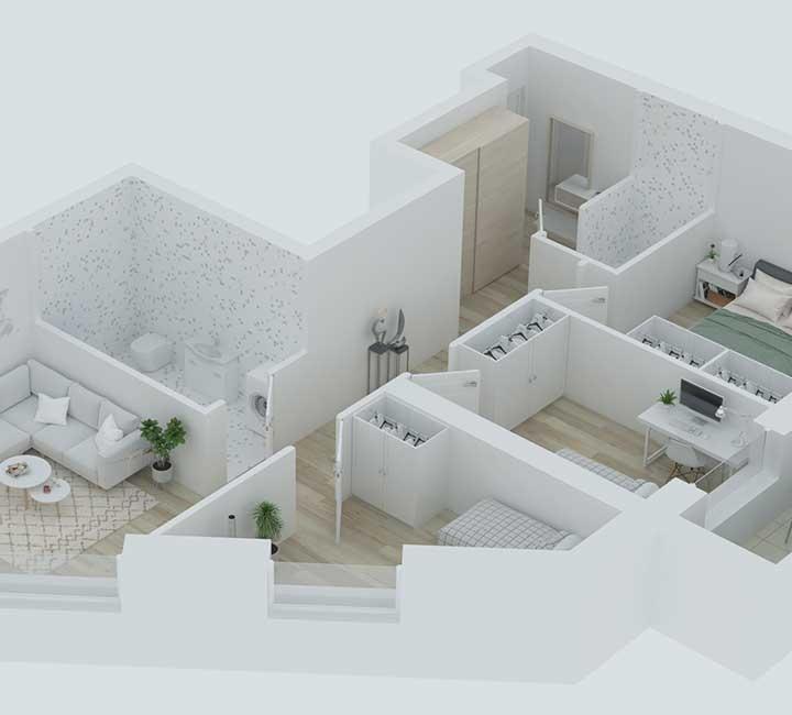 """""""K17"""" – naujos statybos, A energetinės klasės butai Vilniuje. Aukštos kokybės medžiagos, energiją taupančios inžinerinės sistemos, funkcionalumas ir modernūs statybų sprendimai. Naujos statybos butai Vilniuje, Šnipiškėse, Kernavės gatvėje. Nauji butai Vilniuje, Šnipiškėse šalia Žalgirio, Geležinio Vilko ir Kalvarijų gatvių."""